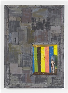 richard hawkins scalps, dungeon doors and salome paintings by richard hawkins