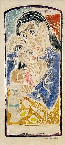 mother love (madonna and child) by max weber