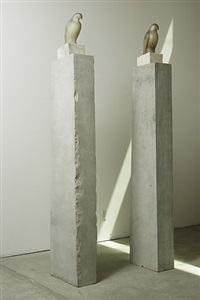 grey white columns (both) by jane rosen