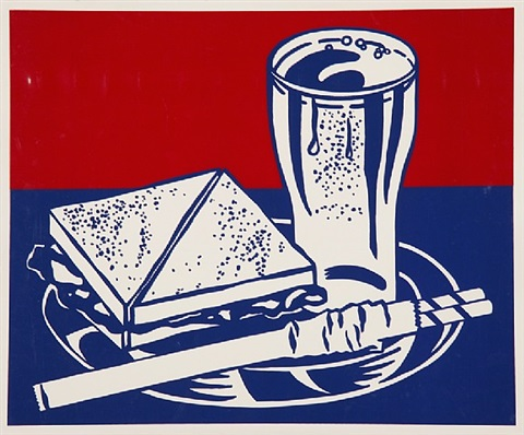 sandwich and soda by roy lichtenstein