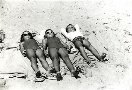 space babies, jones beach, new york by george s. zimbel