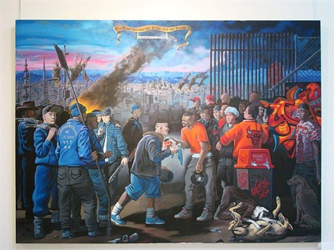 the truce between the crips and the bloods (after velásquez) by sandow birk