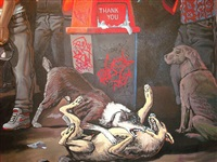 the truce between the crips and the bloods (detail 3) by sandow birk
