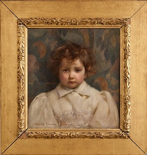 portrait of a child by sir john alfred arnesby brown