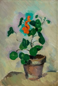 capucines (nasturtiums) by morgan russell