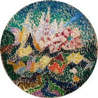 pointillist abstraction (flowers) by joseph stella