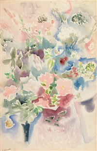 floral (allover flower pattern) by charles demuth