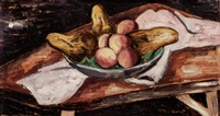 bowl with fruit by marsden hartley