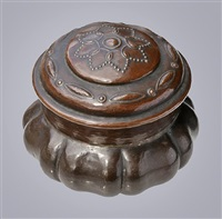 rare arts & crafts lidded box by richard llewellyn benson rathbone