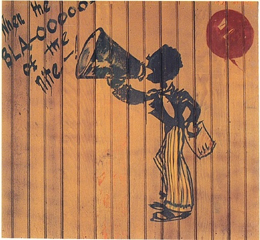 crooner from the jazz murals (# 4 of 5) by franz kline