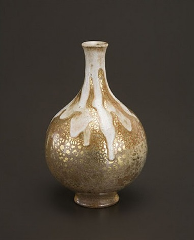 bottle form vase by raoul lachenal