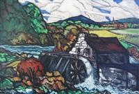 sans titre - moulin à eau by marc-aurèle fortin