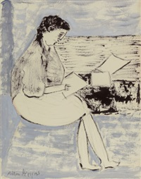 studious girl, 1962 by milton avery