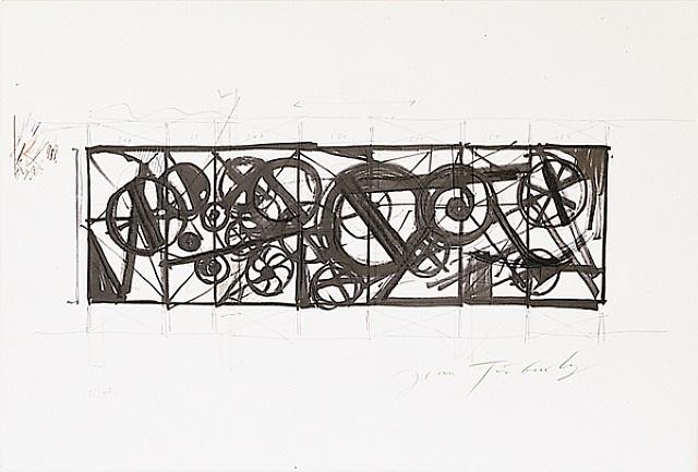 schwarze kreise by jean tinguely