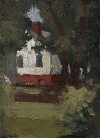 house and tree by edward hopper