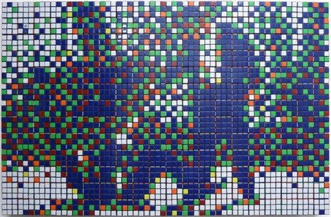 rubik mr pink and mr white by invader