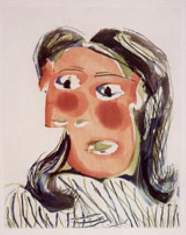 tête de femme no. 6. portrait de dora maar by pablo picasso