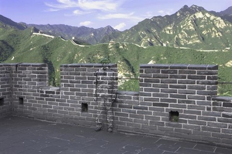 hiding in the city series no 91 great wall by liu bolin