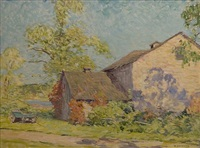 barn near old lyme by william chadwick
