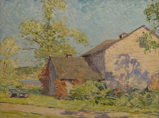 barn near old lyme by william chadwick