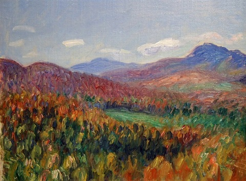 foothills of the white mountains by william glackens