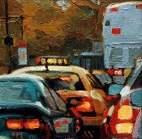 traffic by the park (sold) by roxann poppe leibenhaut