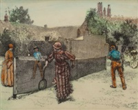 tennis match, 1887 by edwin austin abbey