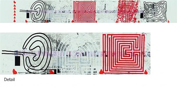untitled (the map of the land of feeling) ii (passport dates: 1997 - 2002) by rirkrit tiravanija