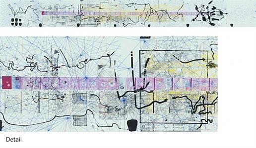 untitled (the map of the land of feeling) iii (passport dates: 1988 - 1997) by rirkrit tiravanija