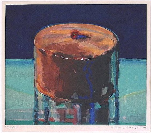 dark cake by wayne thiebaud