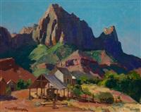 the watchman, zion national park, utah by franz arthur bischoff