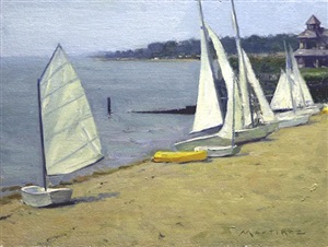 madison beach sailboats (sold) by edward martinez