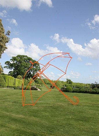 umbrella (orange) by michael craig-martin