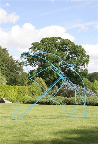 umbrella (blue) by michael craig-martin