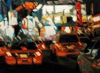 blurred traffic (sold) by roxann poppe leibenhaut