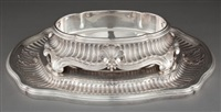 center piece with plateau and plated liner by tétard frères