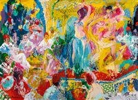 dancers in the koutoubia palace, tangier by leroy neiman