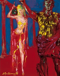wine goddess (the girls of caesars palace) by leroy neiman