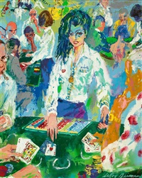21 dealer (the girls of caesars palace) by leroy neiman