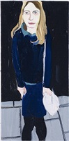 moll in school uniform by chantal joffe