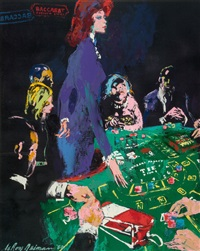 baccarat dealer (the girls of caesars palace) by leroy neiman