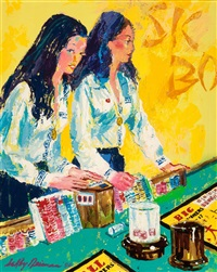 sic bo dealers (the girls of caesars palace) by leroy neiman