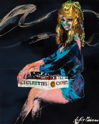 cigarette girl (the girls of caesars palace) by leroy neiman