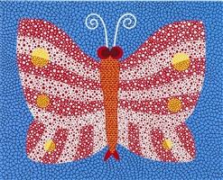 a butterfly achno by yayoi kusama