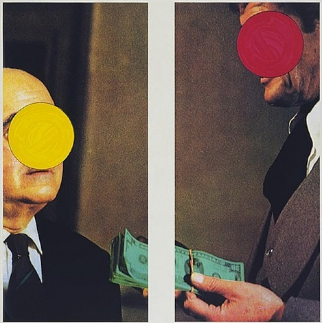 money with space between by john baldessari