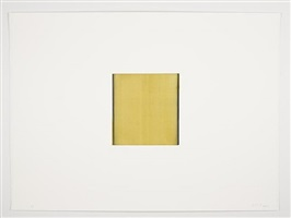 untitled (lamp black / gold titanium) by callum innes