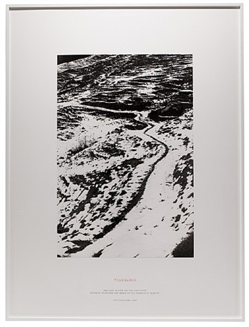 tigerline by richard long