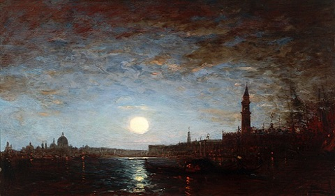the grand canal by moonlight by félix ziem