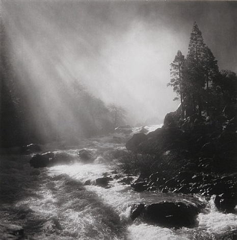base of nevada fall, yosemite national park, ca, 1981 by bob kolbrener