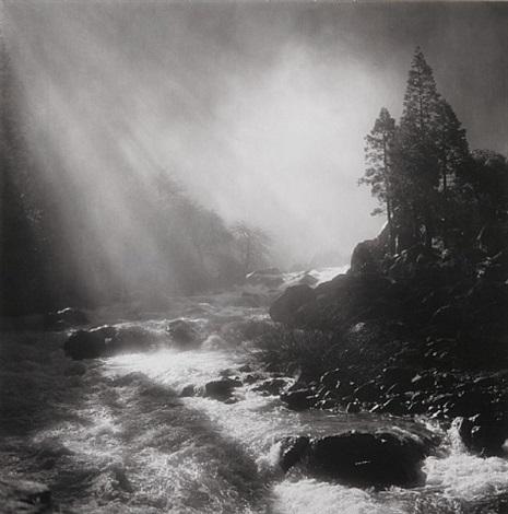 base of nevada fall, yosemite national park, ca, 1981 by bob kolbrener